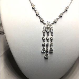 Jewelry - NEW 18K white gold diamonds pendant